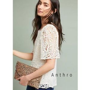 NEW Anthropologie Eri + Ali Suzy lace top